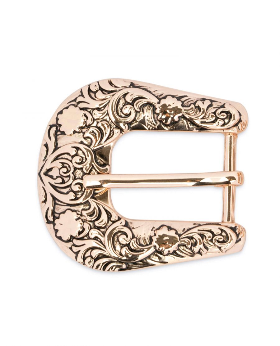 Cowgirl rose gold belt buckle WEST25ROGD 3