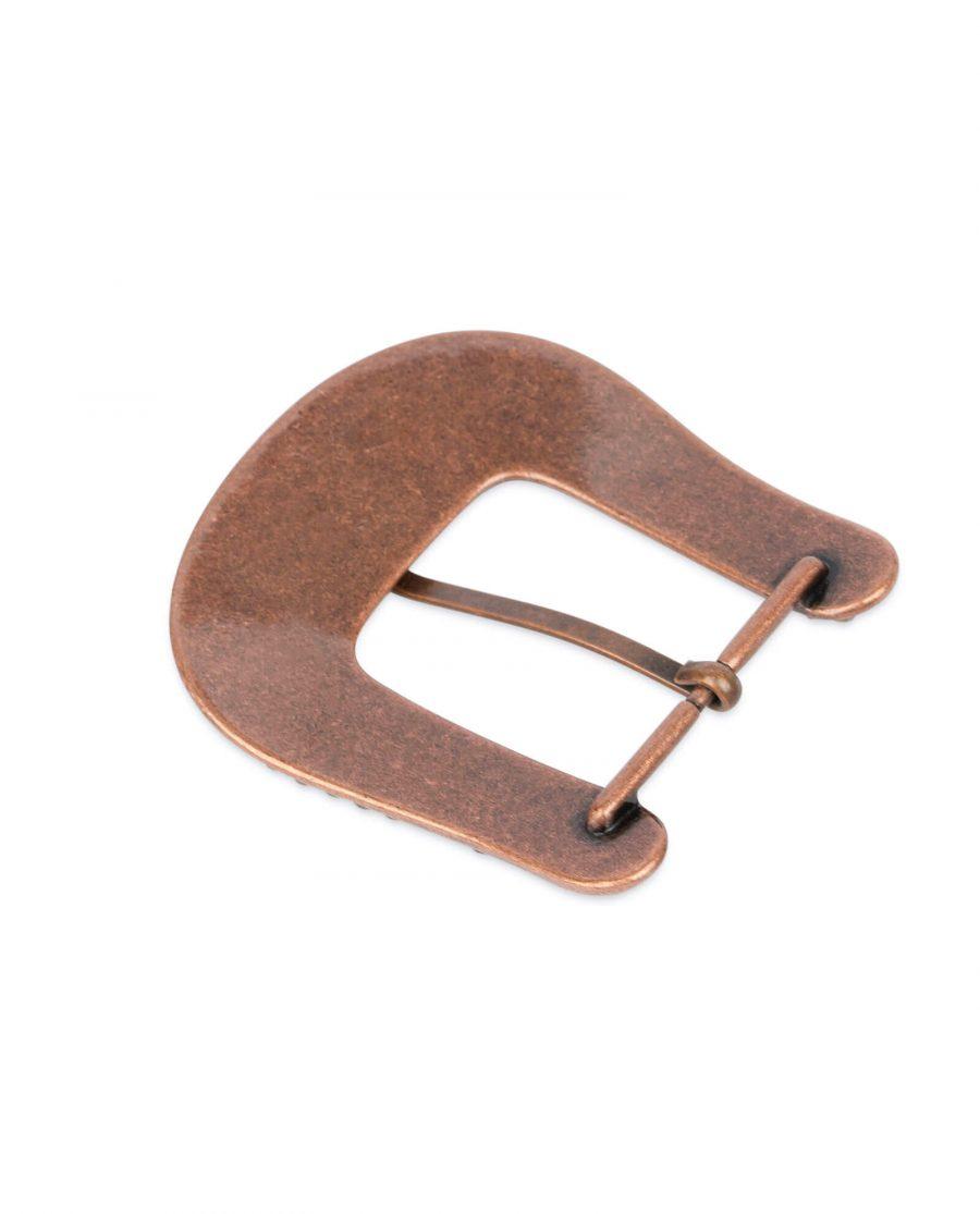 Rhinestone western copper belt buckle WECO35RHIN 4