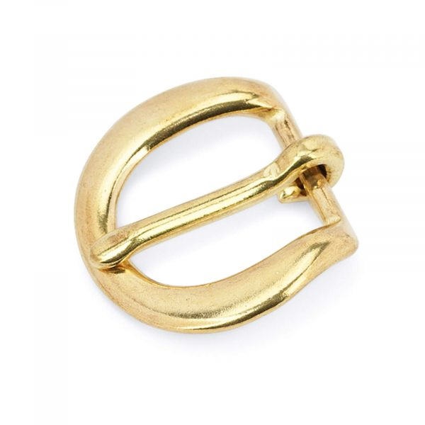 Rounded corner brass belt buckle 20 mm BROV20GDPT 1