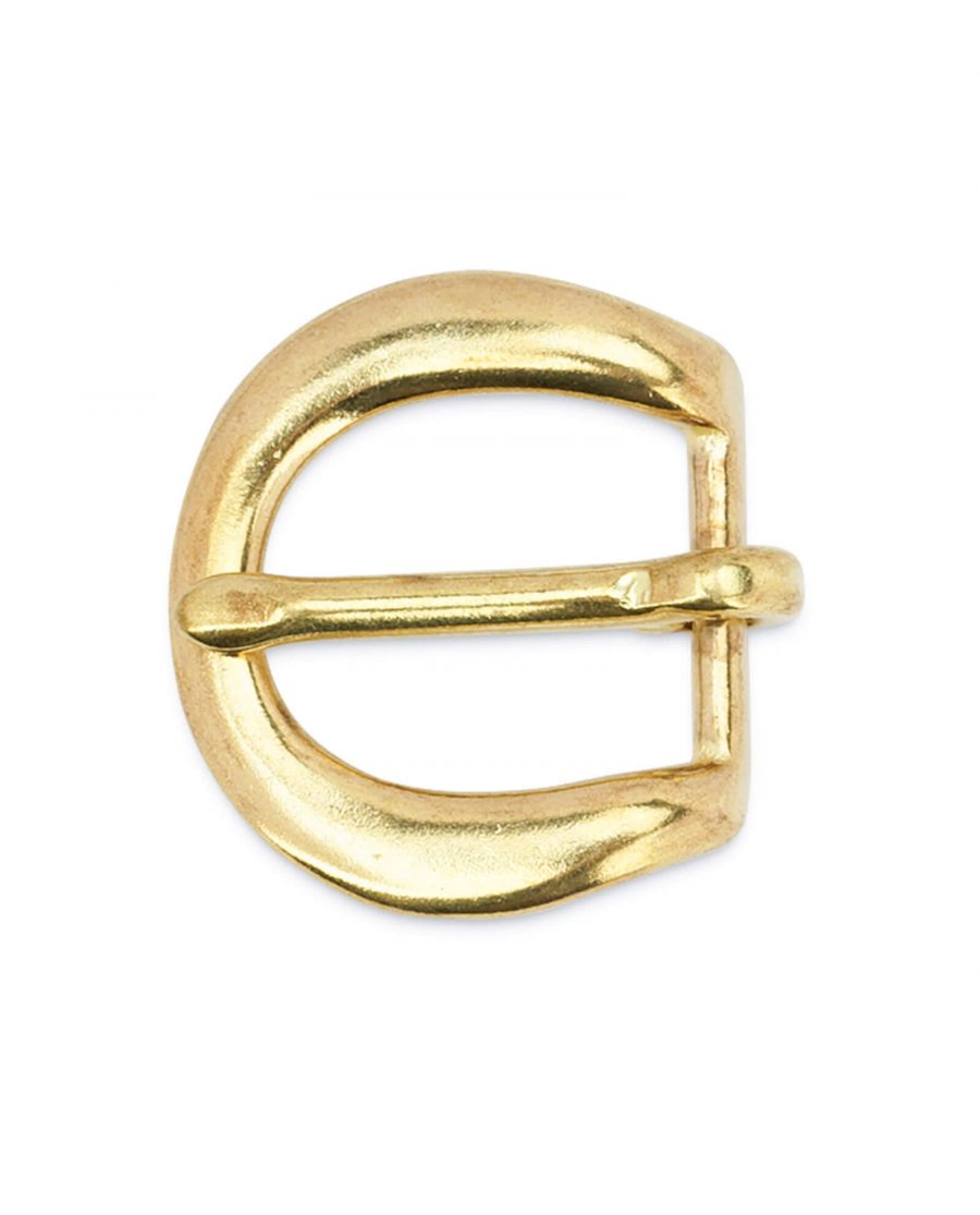 Rounded corner brass belt buckle 20 mm BROV20GDPT 3