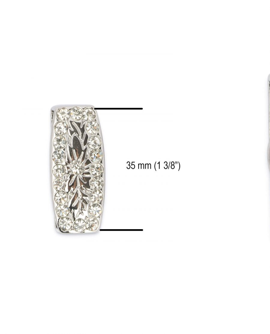 Western belt buckle loop with rhinestones LONI35RHIN 5