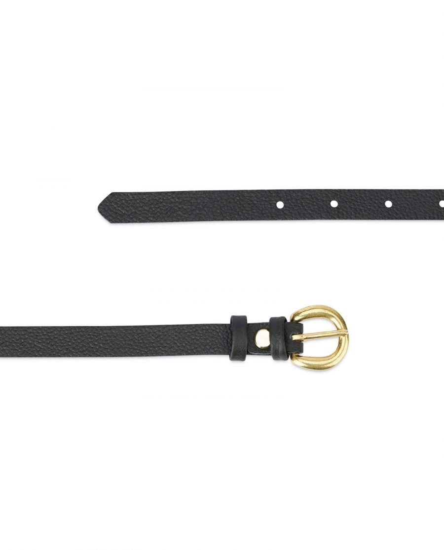Womens belt with brass buckle – 15 mm black BRAS15CWBL 2
