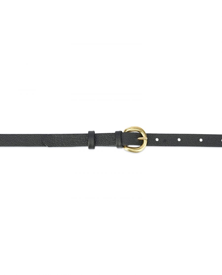 Womens belt with brass buckle – 15 mm black BRAS15CWBL 3