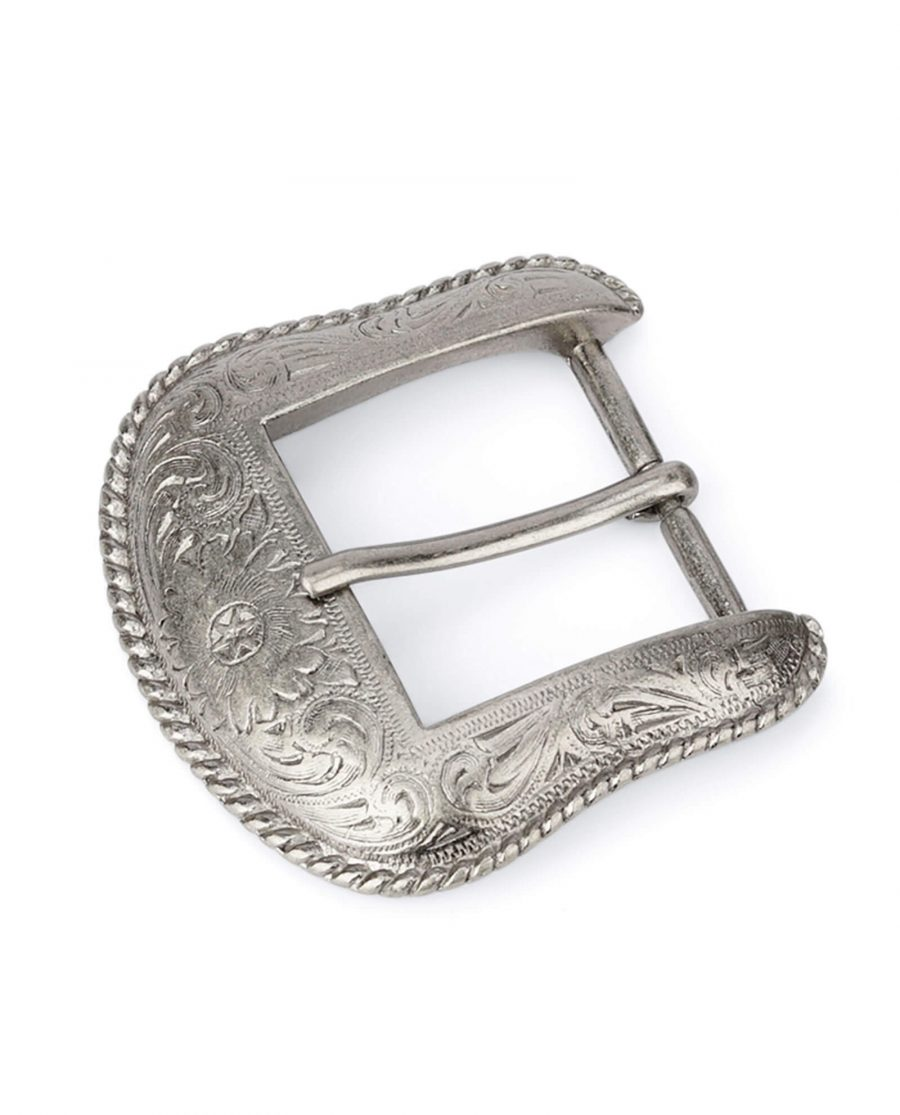silver western belt buckle WESI35FLOW 1