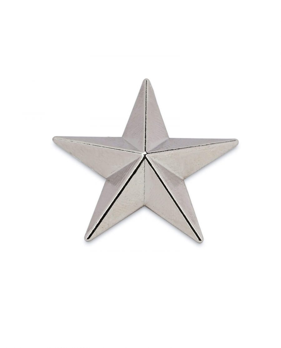 star belt buckle STAR29SILV 1