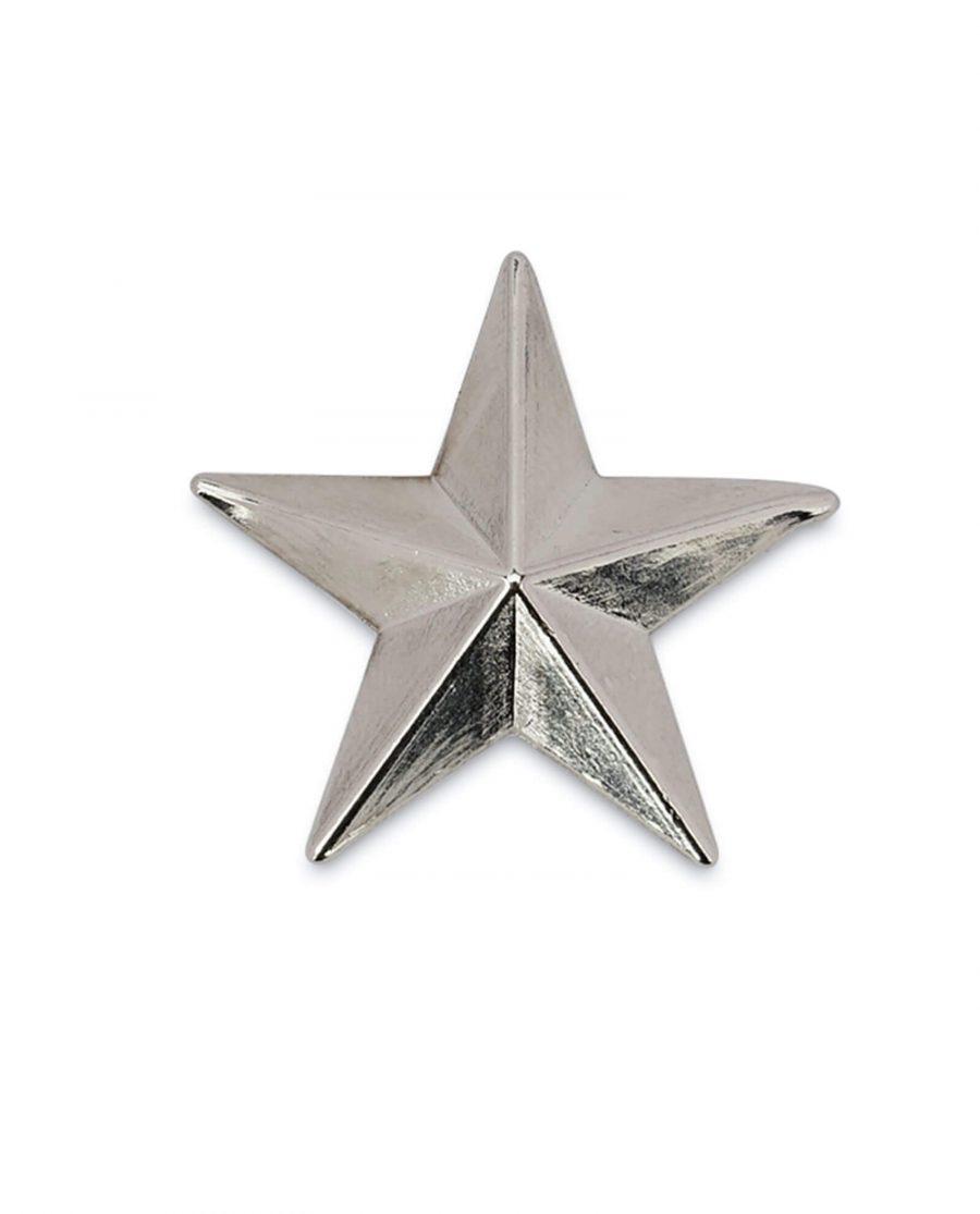 star belt buckle STAR29SILV 4