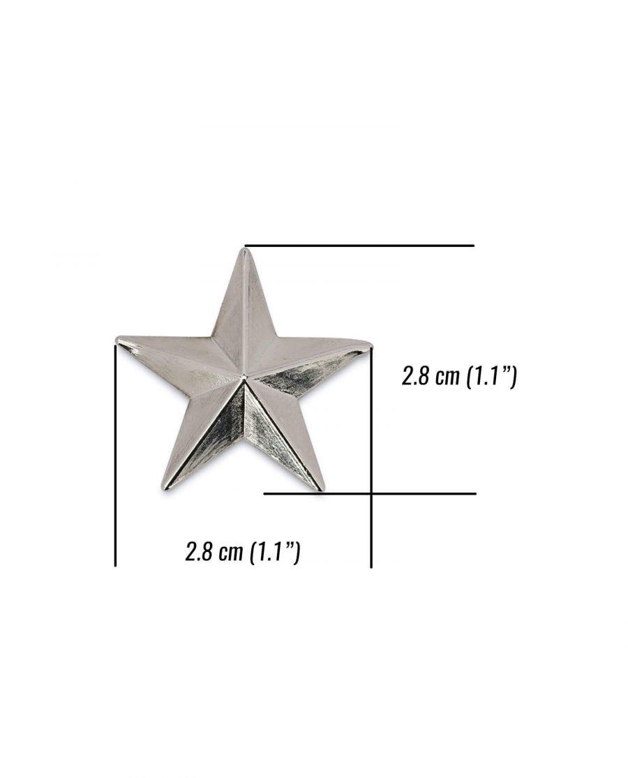 star belt buckle STAR29SILV 5