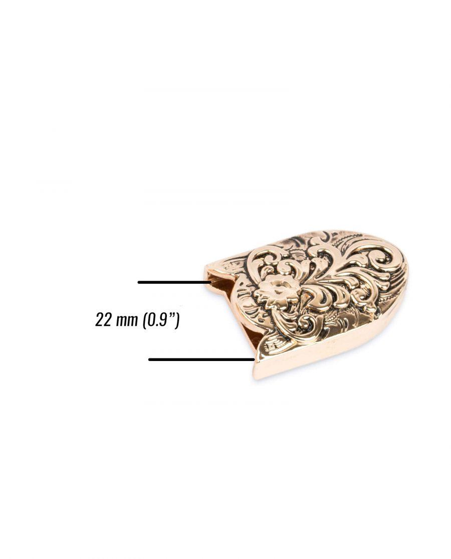 western belt tips rose gold metal TIWE25ROGD 3 1