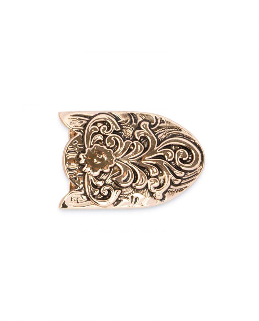 western belt tips rose gold metal TIWE25ROGD 5