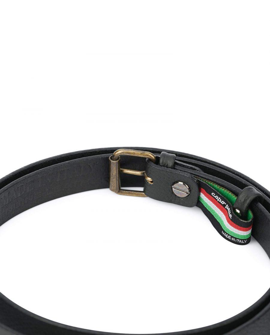 women s belt black with bronze roller buckle 20 mm ROLL20BLCW 5