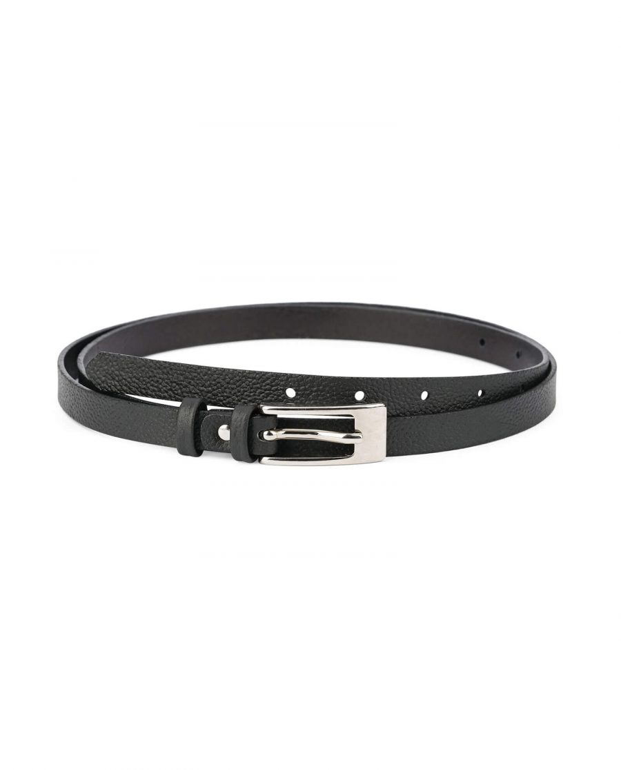 womens belts for dresses – thin leather 15 mm CWBL15CLBC 1