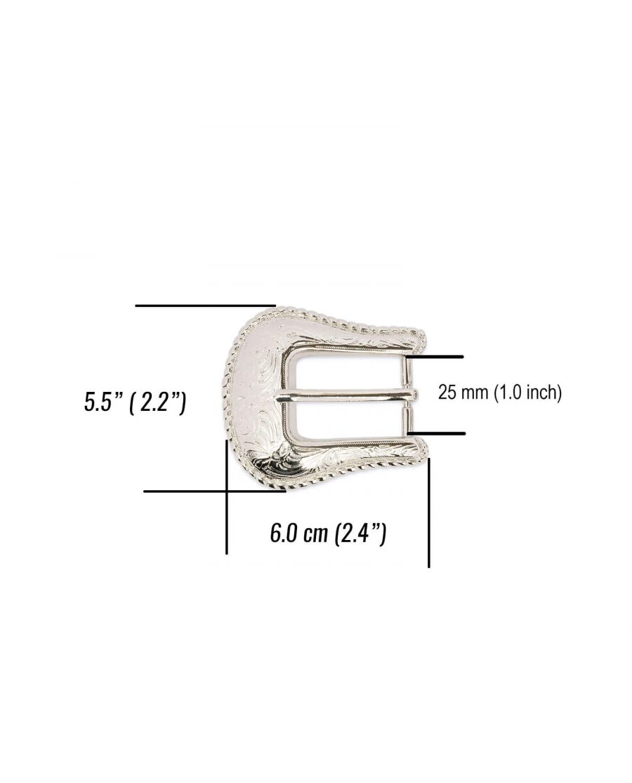 womens western belt buckle silver nickel WENI25SILV 3