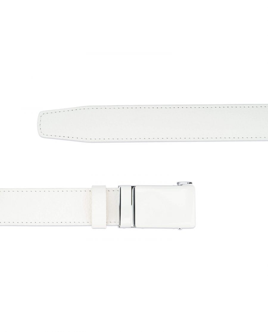 Automatic white buckle belt without holes RTWH35WTBC 2