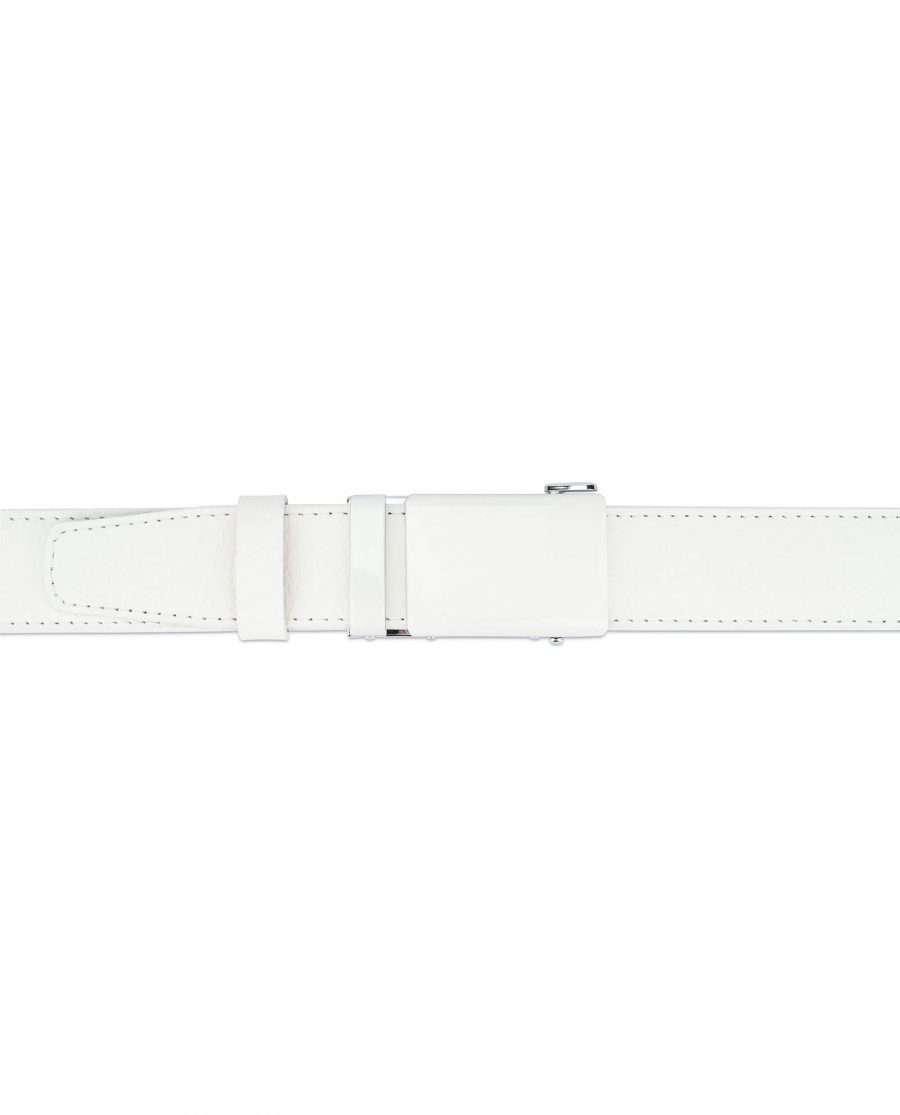 Automatic white buckle belt without holes RTWH35WTBC 3