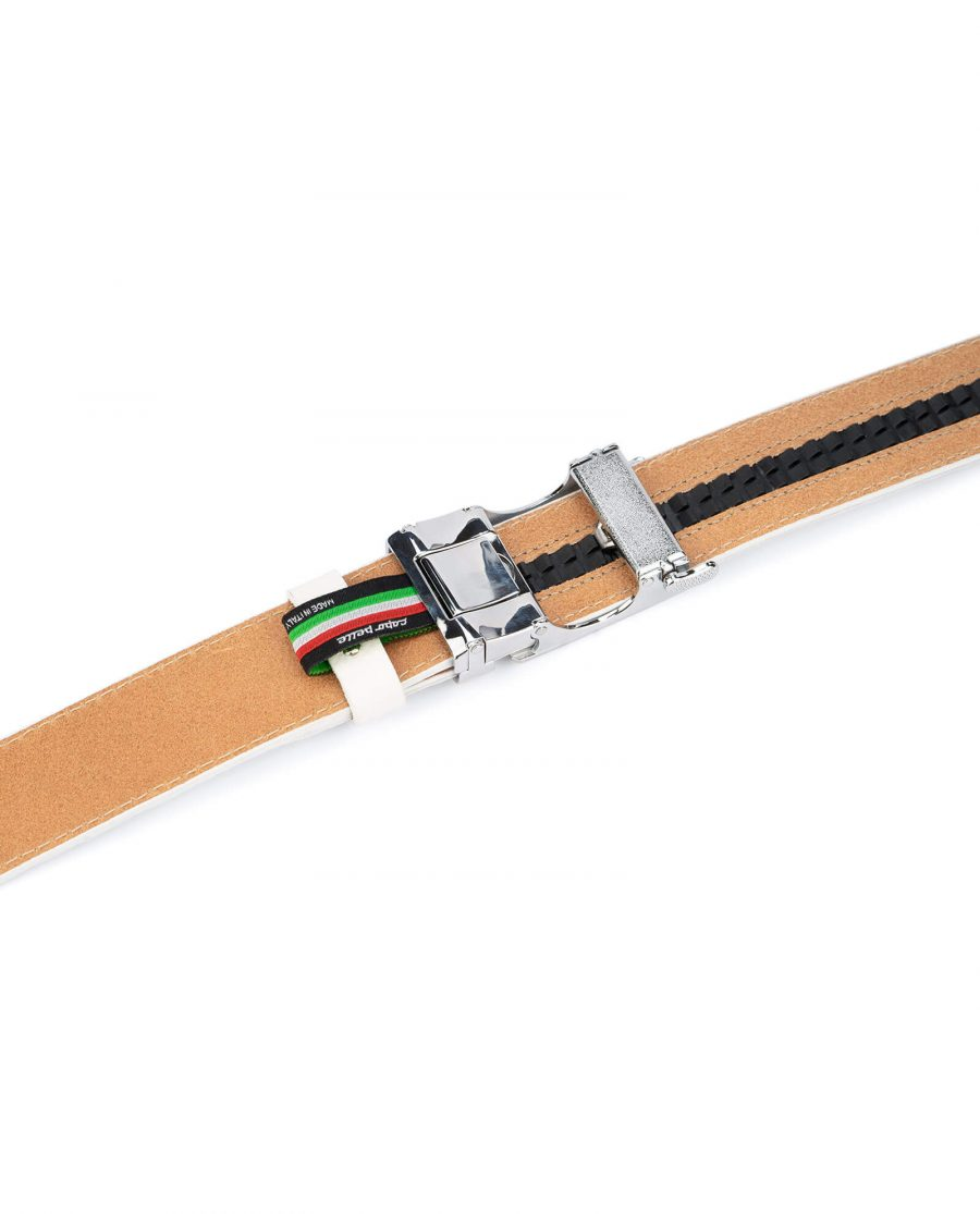 Automatic white buckle belt without holes RTWH35WTBC 4