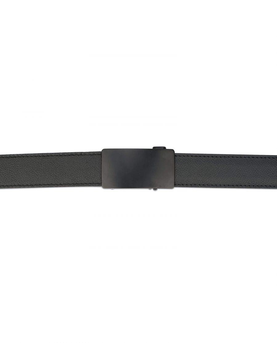 Black leather comfort click belt blank buckle AUBL35BLRO 3