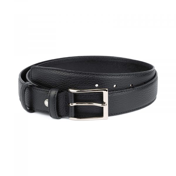 Black men s genuine leather belt with buckle PBBL35CLAS 1