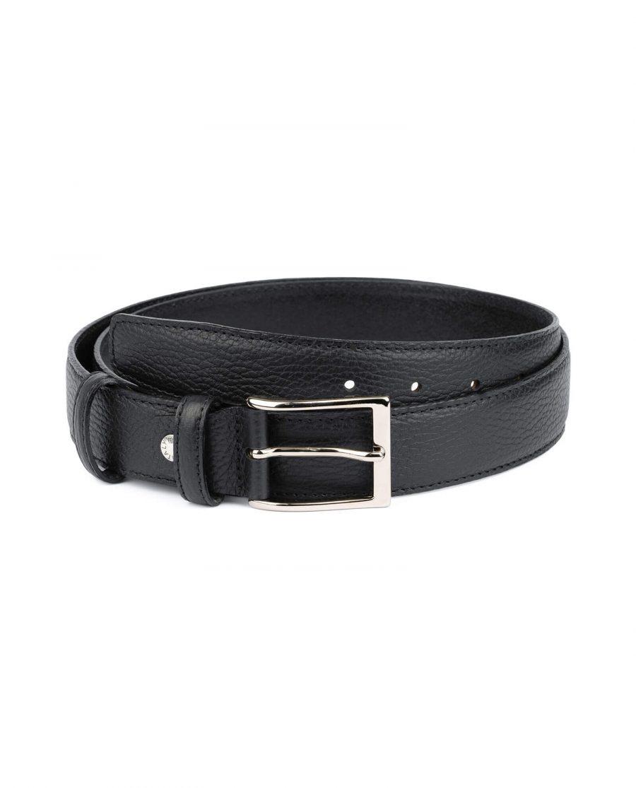 Black men s genuine leather belt with buckle PBBL35CLAS 1