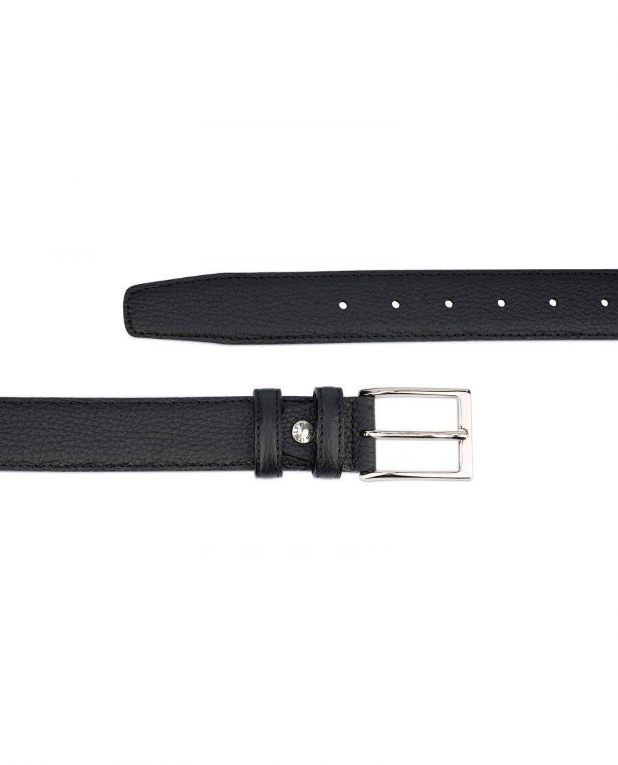 Black men s genuine leather belt with buckle PBBL35CLAS 2
