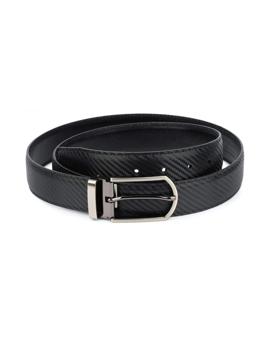 Carbon fiber Leather Belt For Men 35 mm 1