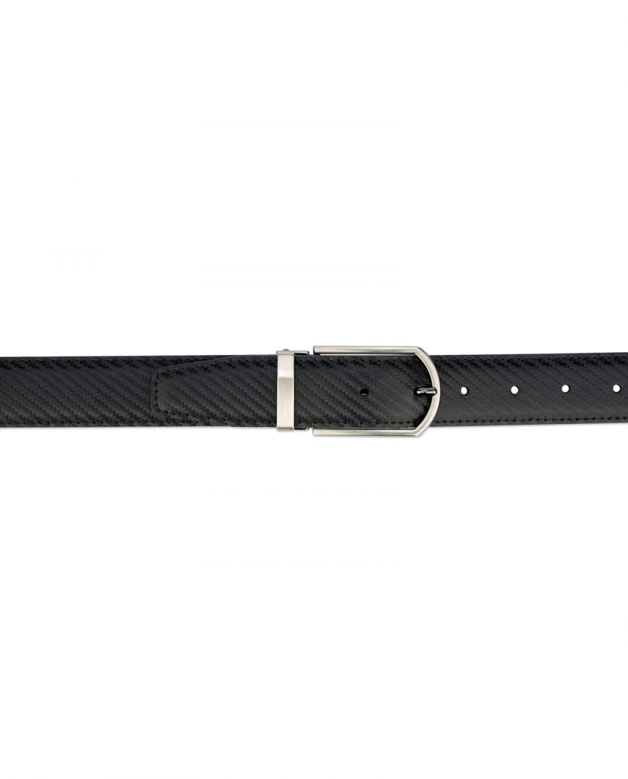 Carbon fiber Leather Belt For Men 35 mm 3
