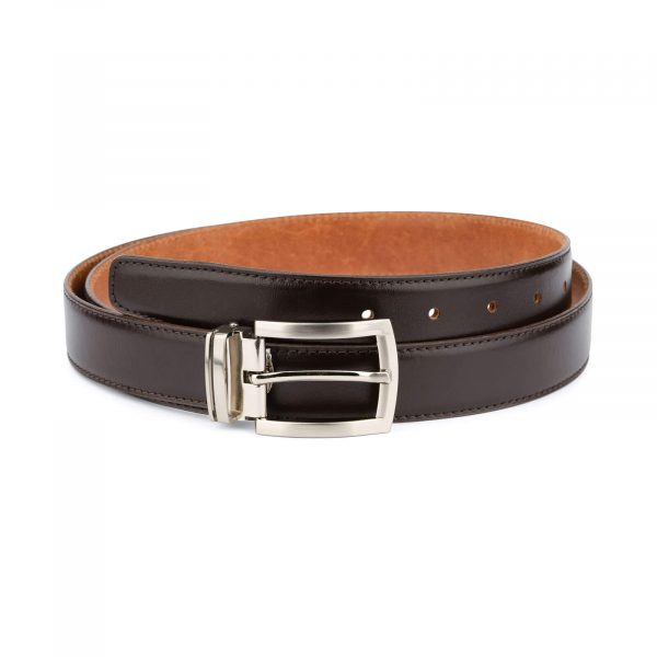 Classic mens brown leather belt – 3 0 cm CLBR30PTSI 1