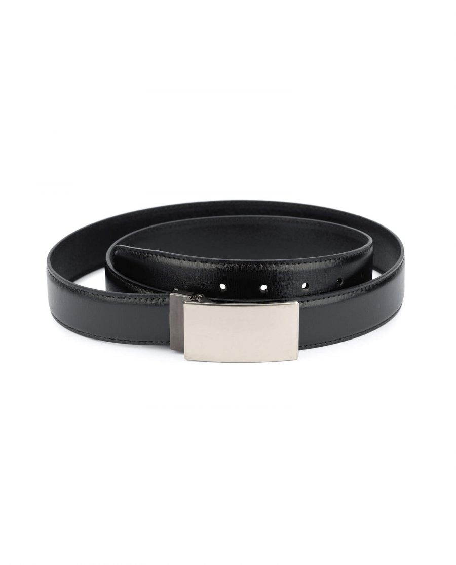 Mens black leather belt buckle blanks 35 mm 1