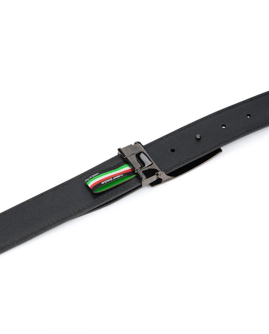 Mens black leather belt buckle blanks 35 mm 4
