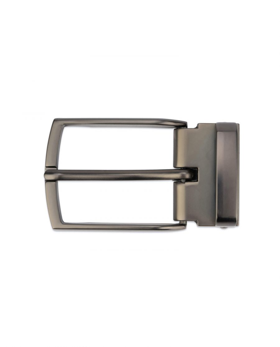 Mens classic belt buckle – 35 mm gunmetal grey GNCL35ARPL 2
