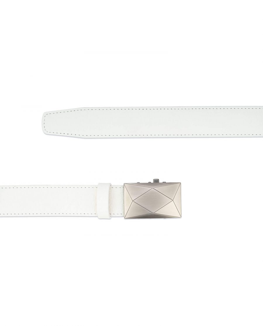 Mens white comfort click belt luxury buckle RTWH35ROGR 2