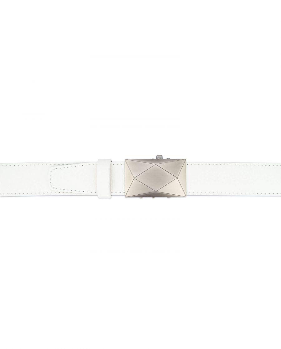 Mens white comfort click belt luxury buckle RTWH35ROGR 3