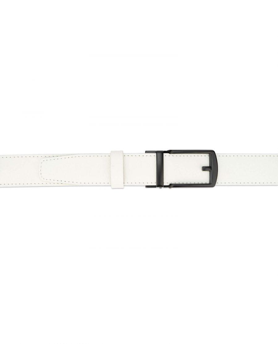 Mens white golf belt ratchet buckle AUWH35BLCL 3