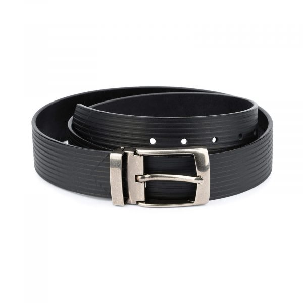 Mens wide leather belt Embossed 40mm 1 5 inch 1