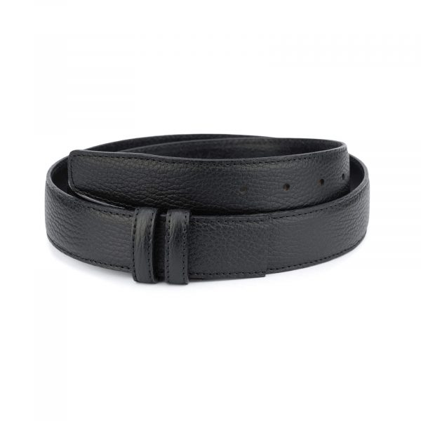 Pebbled Black mens belt strap 35 mm – genuine leather BLST35PEBB 1