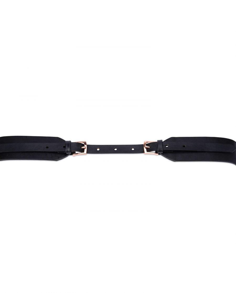 Rose gold double buckle belt for women DBBL40ROGD 4