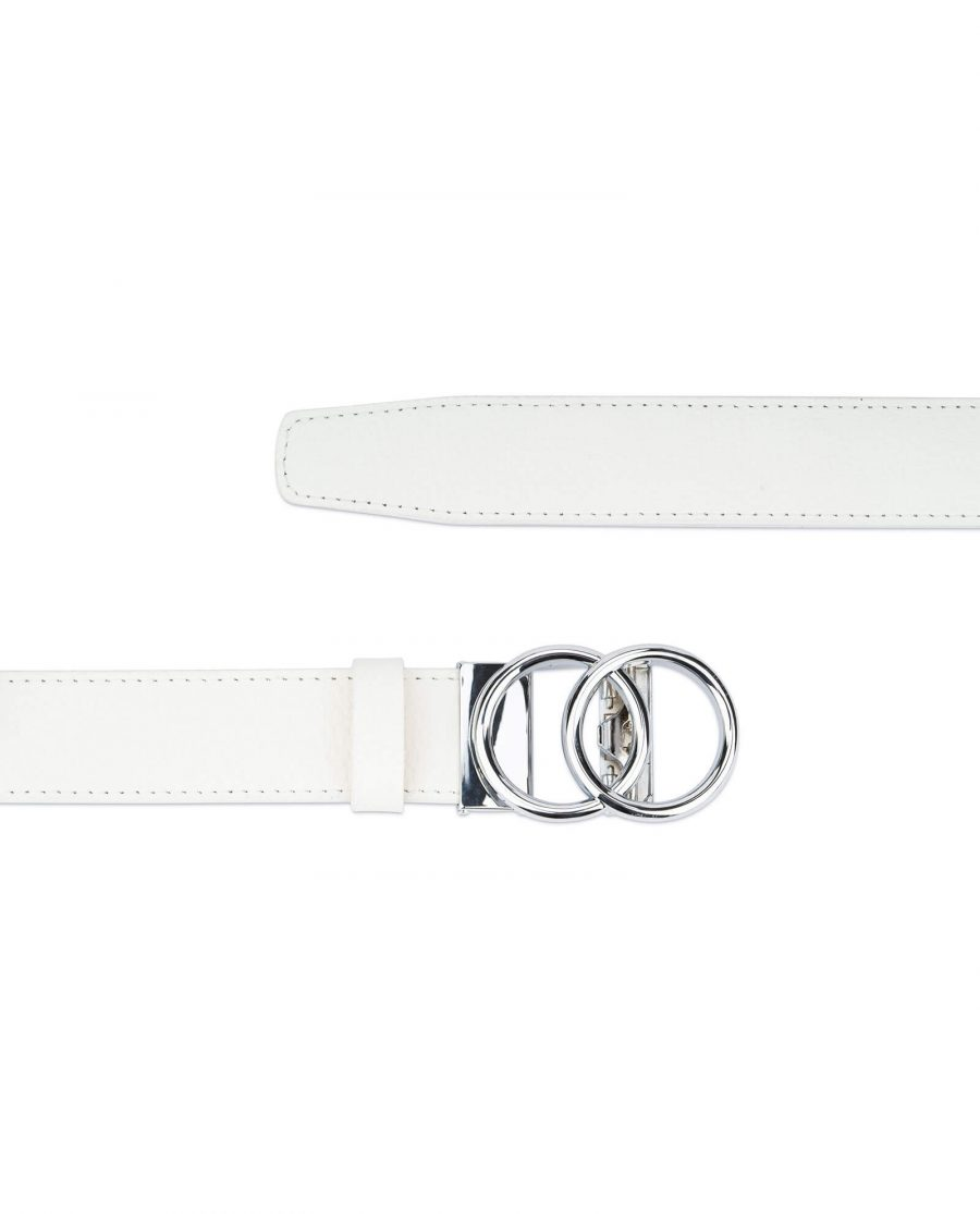 Womens ratchet belt with double circle buckle AUWT35SICI 2