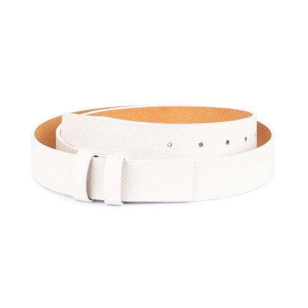 belt strap replacement – 35 mm white leather DOST35WHIT 1