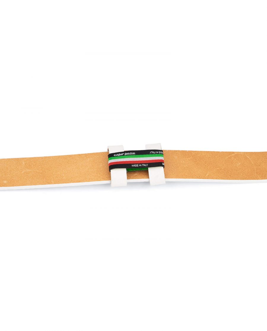 belt strap replacement – 35 mm white leather DOST35WHIT 3