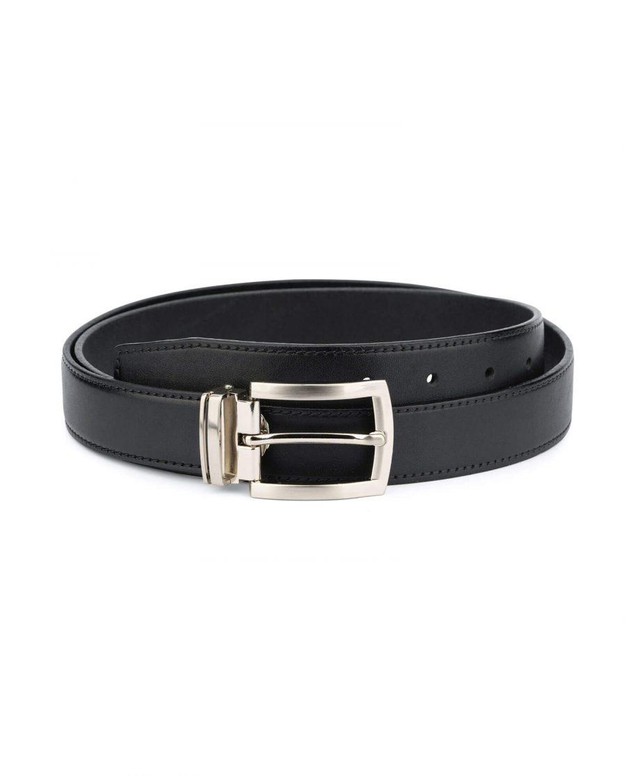 black full grain leather belt for men 30 mm FGBL30PTSI 1