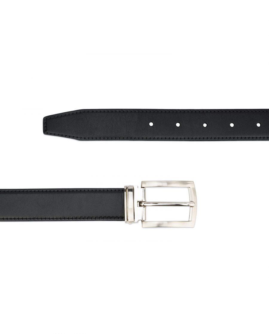 black full grain leather belt for men 30 mm FGBL30PTSI 2