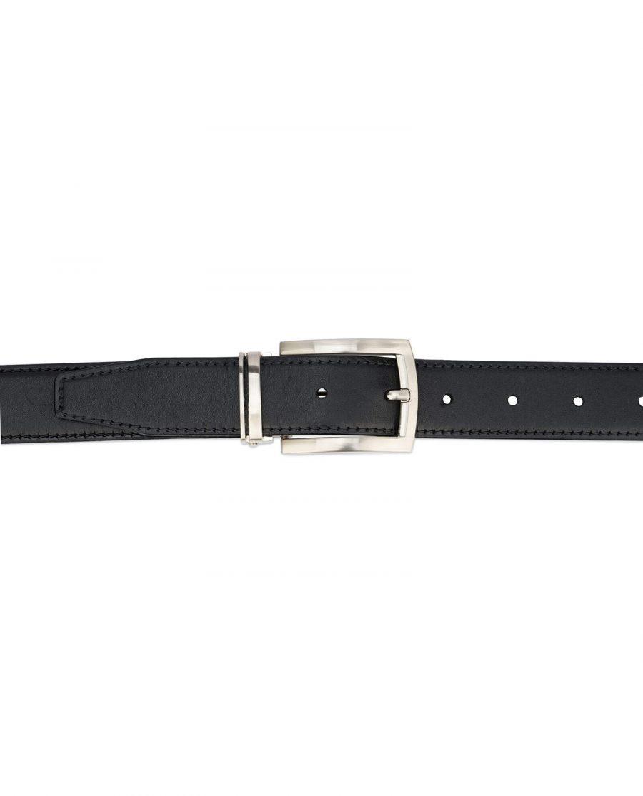 black full grain leather belt for men 30 mm FGBL30PTSI 3