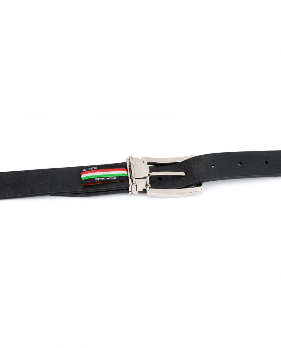 black full grain leather belt for men 30 mm FGBL30PTSI 4