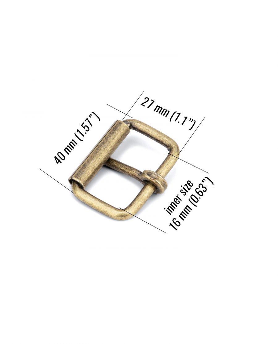 bronze roller belt buckle 31 mm BZRL31GDPT size
