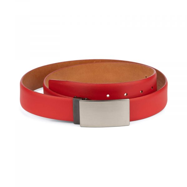 men red leather belt – blanks buckle 3 5 cm 1