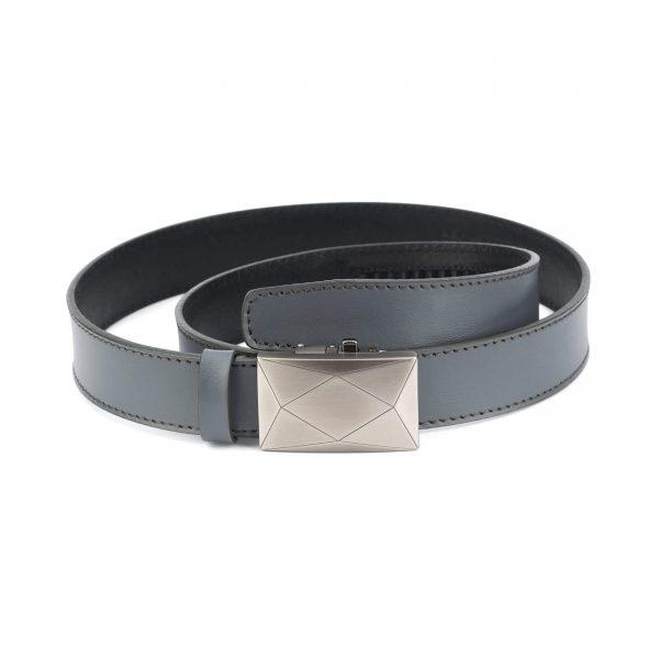 men s grey ratchet leather belt luxury buckle RTGR35ROGR 1