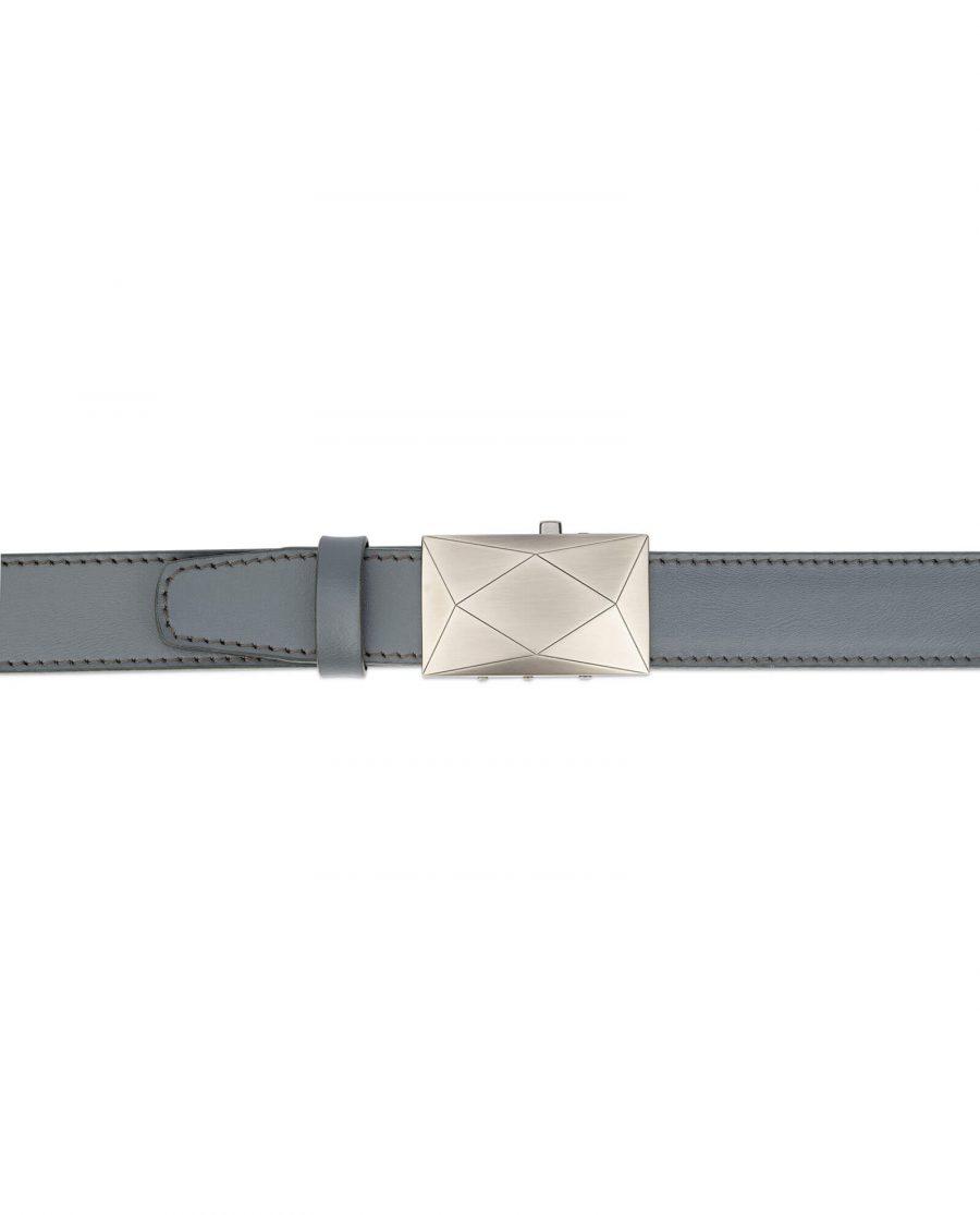 men s grey ratchet leather belt luxury buckle RTGR35ROGR 3