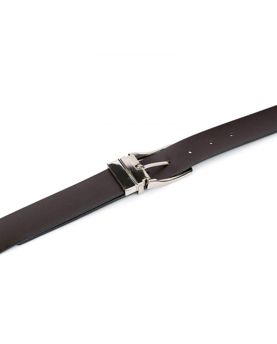 mens belt reversible saffiano leather 3 5 cm 3