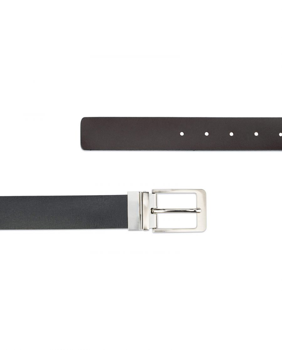 mens belt reversible saffiano leather 3 5 cm 4