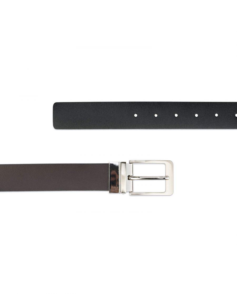 mens belt reversible saffiano leather 3 5 cm 6