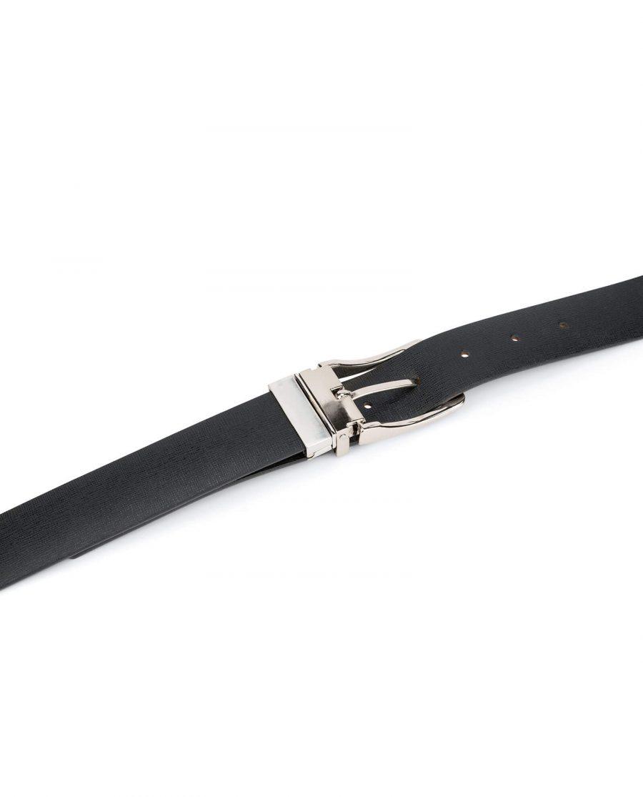 mens belt reversible saffiano leather 3 5 cm 8